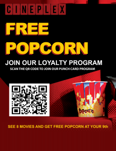 Cineplex Movie Theater Poster Demo - Extreme Mobile Punch Loyalty Card Program