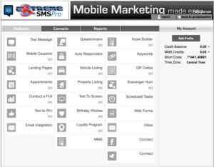 Extreme SMSPro Advertiser Dashboard