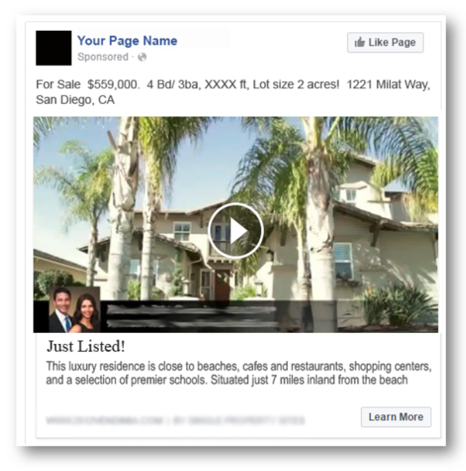 Facebook Real Estate Video Ad